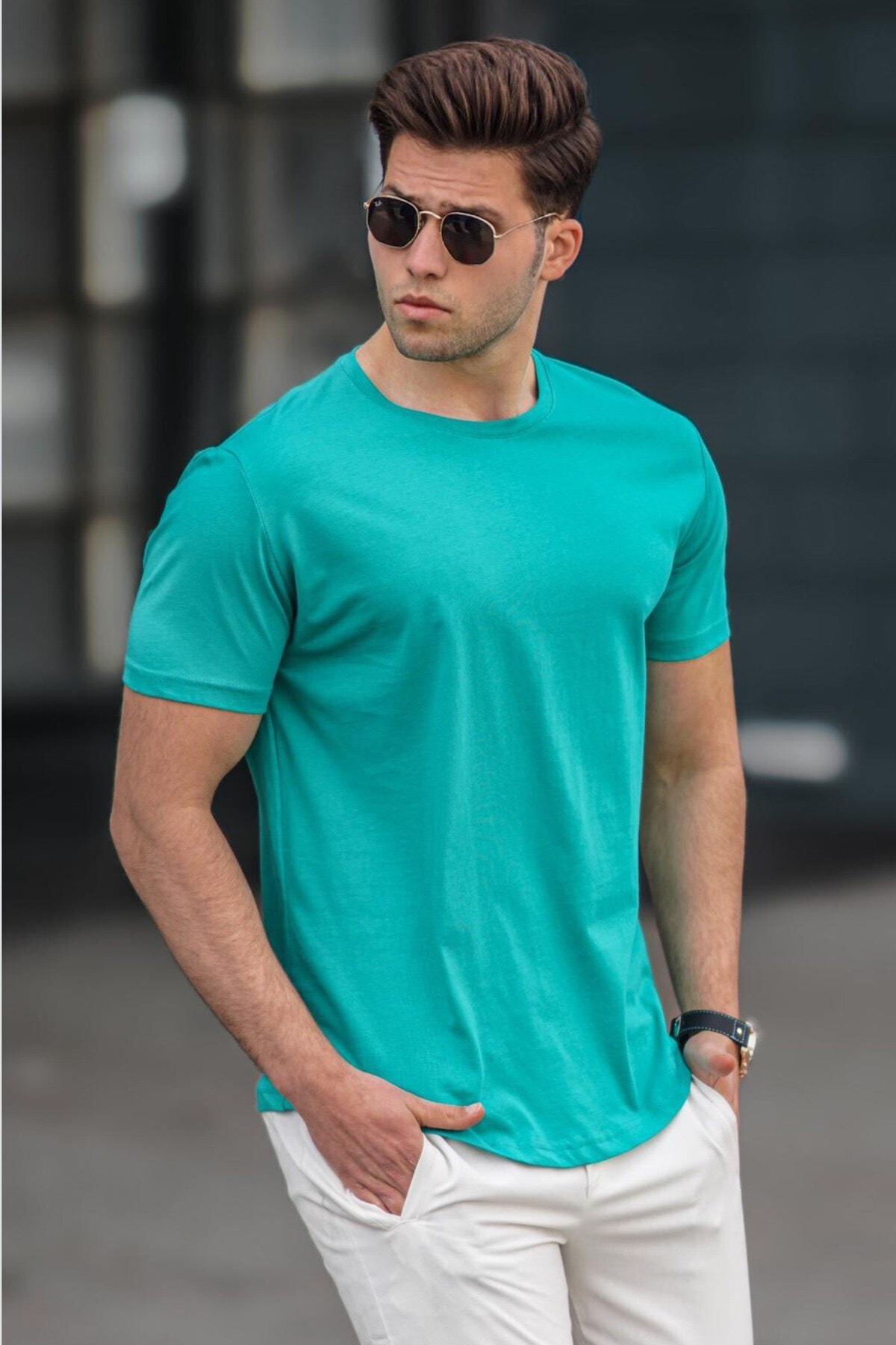 Erkek  Petrol Yeşili Tişört 4951