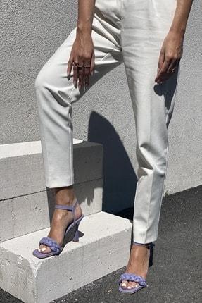 İnan Ayakkabı Kadın Lila Bilekten Tokalı Örgülü Topuklu Ayakkabı 2