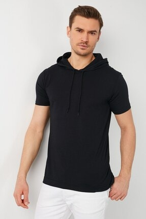 GİYSA Erkek Kapüşonlu Slim Fit Erkek T-shirt 2021 2