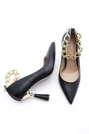 Marjin Kadın Stiletto Topuklu Ayakkabı Nazitasiyah 4