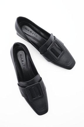 Marjin Kadın Günlük Klasik Topuklu Ayakkabı Jiyonasiyah 0