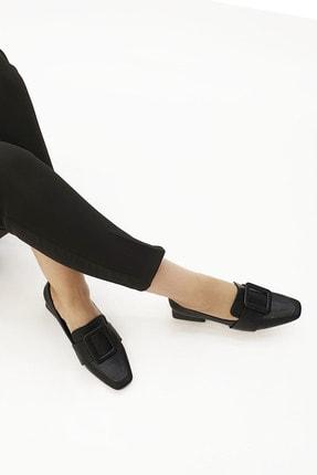 Marjin Kadın Günlük Klasik Topuklu Ayakkabı Jiyonasiyah 3