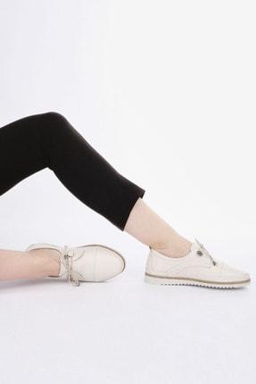 Marjin Kadın Hakiki Deri Comfort Ayakkabı Demaskrem 4