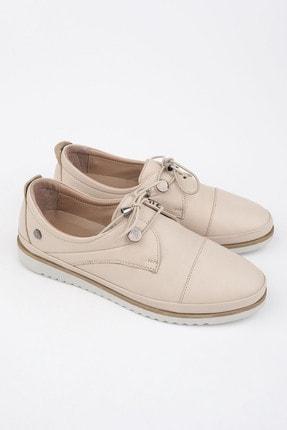 Marjin Kadın Hakiki Deri Comfort Ayakkabı Demasbej 1