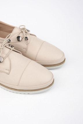 Marjin Kadın Hakiki Deri Comfort Ayakkabı Demasbej 4