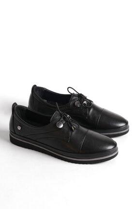 Marjin Kadın Hakiki Deri Comfort Ayakkabı Demassiyah 3