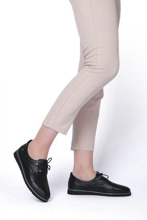 Marjin Kadın Hakiki Deri Comfort Ayakkabı Demassiyah 4