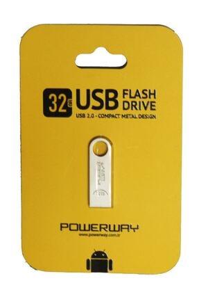 Powerway Metal 32gb 2.0 Usb Bellek 0