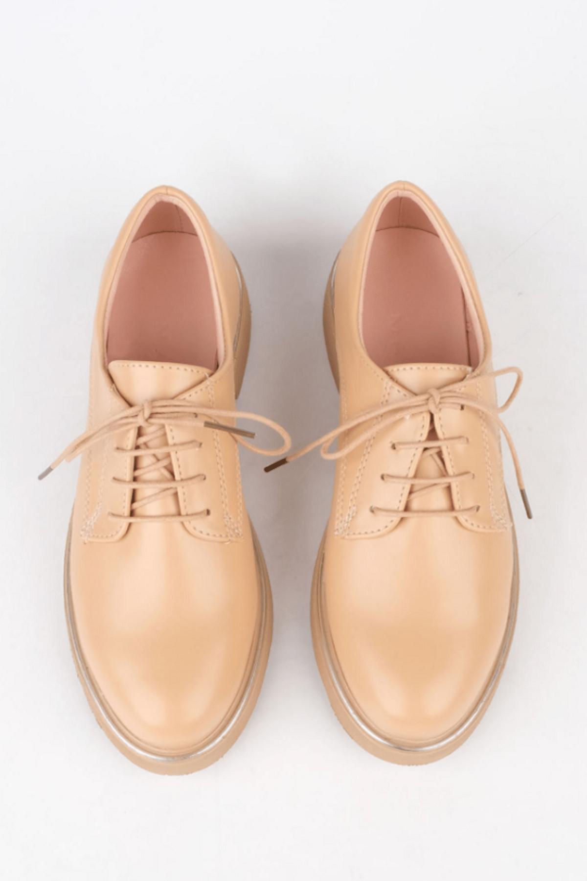 Marjin Kadın Bej Oxford Ayakkabı Terva 3