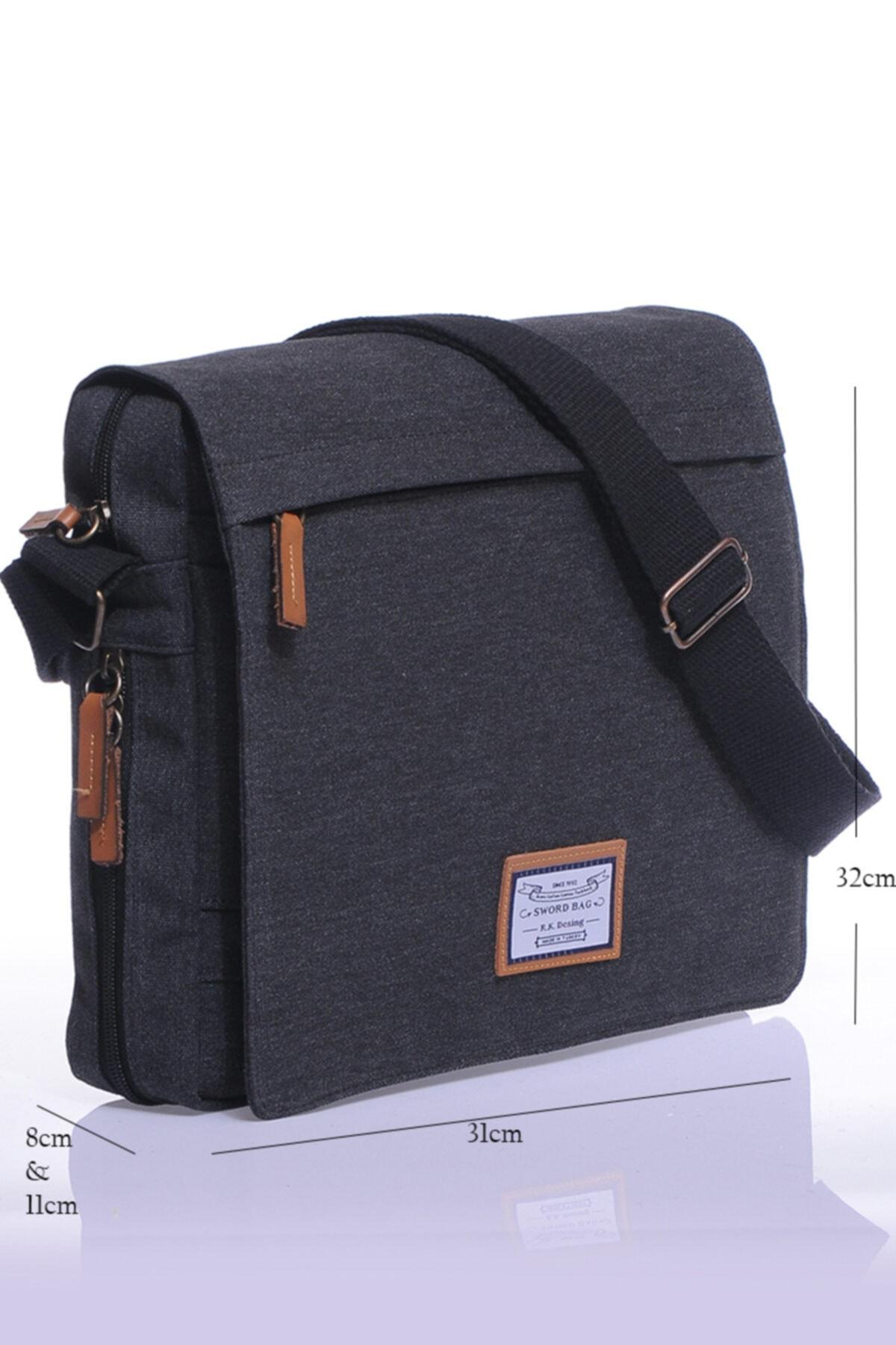 Siyah Kanvas Laptop Evrak Çantası Sw700