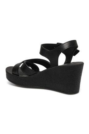 Polaris 317257.Z 1FX Siyah Kadın Dolgu Topuklu Sandalet 101024851 2