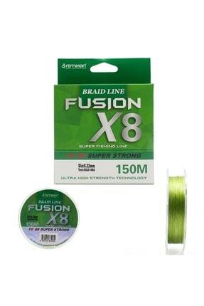 Fusion 150m X8 Green Ip Misina 0,10mm RMFS10