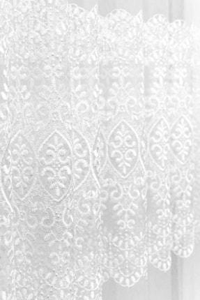 Brillant Tül Perde Dağ Yoğun İşlemeli Sıralı 1'e 3 Sık Pile 400x180 2