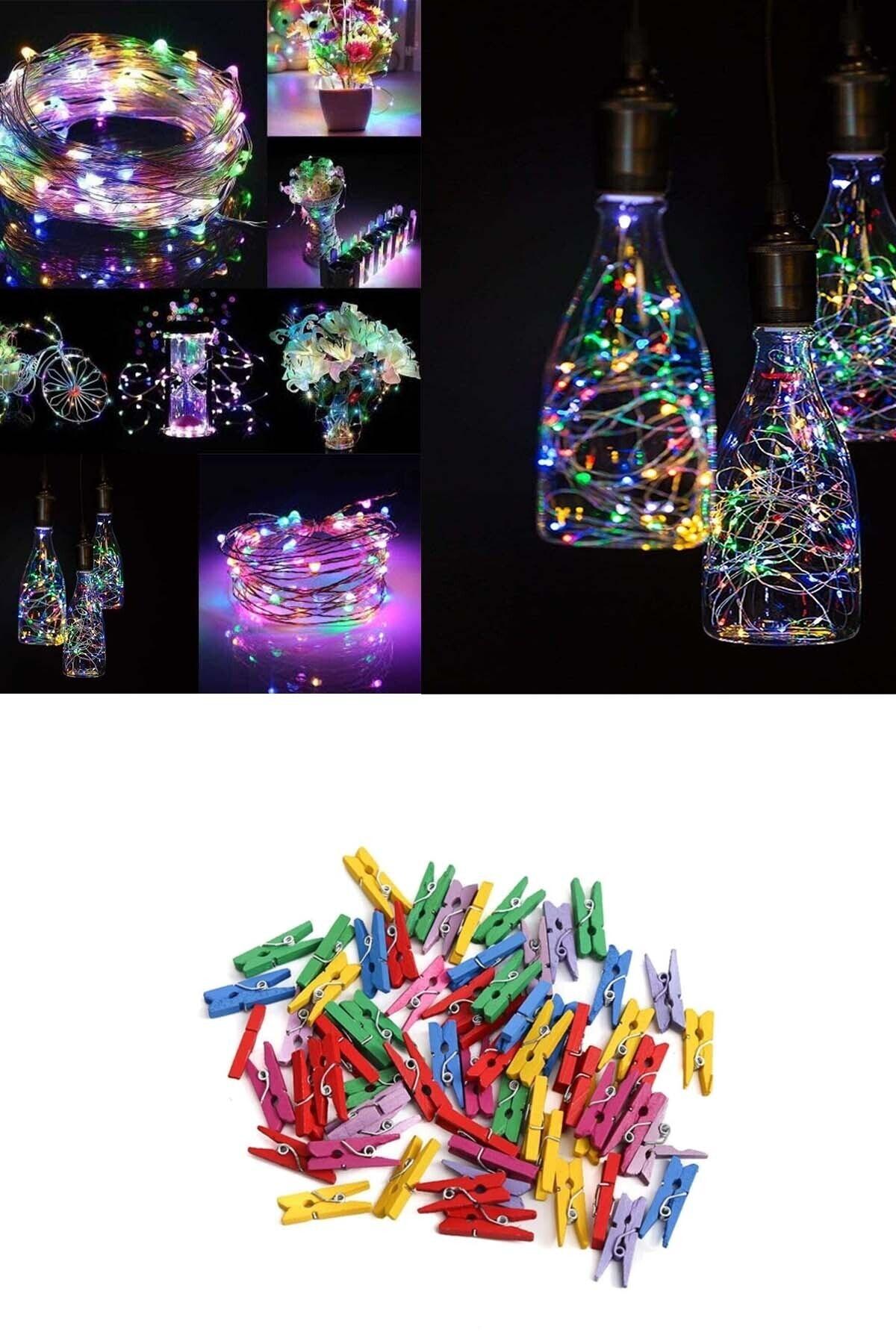 Alshop Peri Led Işık + 25 Renkli Mandal 2,50 cm 5 mt Fiyatı, Yorumları -  TRENDYOL