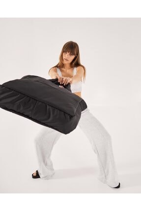 Shule Bags Kabartmalı Puf Kumaş Shopper Çanta Napoli Siyah 4