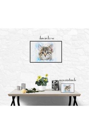 20x30 Cm Çerçeve Görünümlü Mdf Tablo-kedi DekoratifŞıkÜrünler388