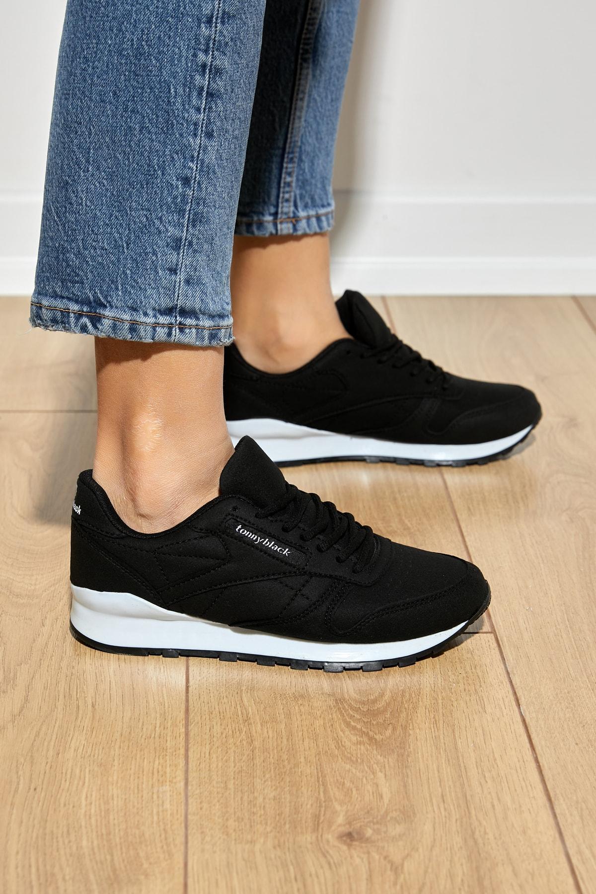 Unısex Spor Ayakkabı Siyah V2106 -> 37 -> Siyah