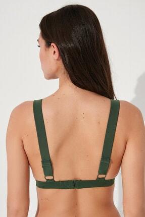 Penti Koyu Yeşil Basic Deep V Bikini Üstü 3