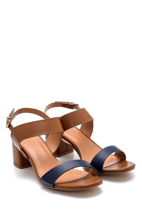 Derimod Kadın Kahverengi Topuklu Sandalet 2