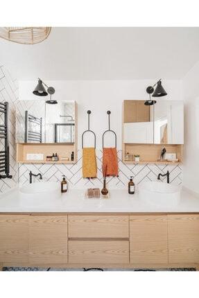 Home Modern Siyah Metal Havluluk 1