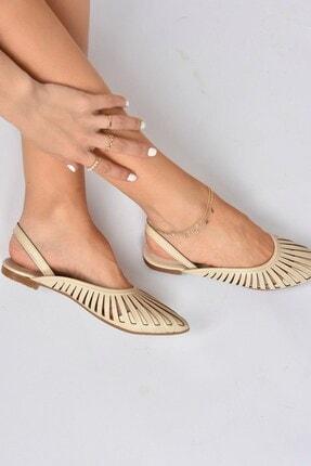 Fox Shoes Kadın Bej Babet K294850109 1