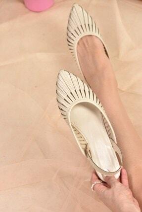 Fox Shoes Kadın Bej Babet K294850109 3