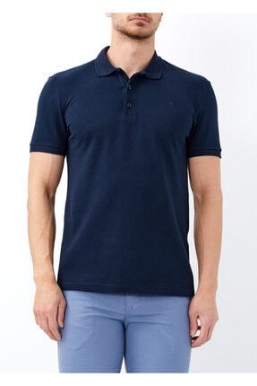 Erkek Lacivert Büyük Beden Basic Polo Yaka Tişört resmi