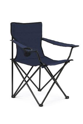 Walke Katlanabilir Kamp Sandalyesi Piknik Sandalyesi Plaj Sandalyesi Mavi Taşıma Çantalı 0