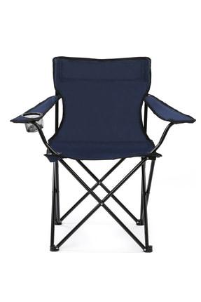 Walke Katlanabilir Kamp Sandalyesi Piknik Sandalyesi Plaj Sandalyesi Mavi Taşıma Çantalı 1