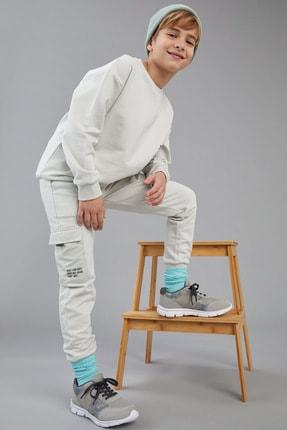 Defacto Erkek Çocuk Slim Fit Organik Pamuk Kargo Cepli Jogger Eşofman Altı 0
