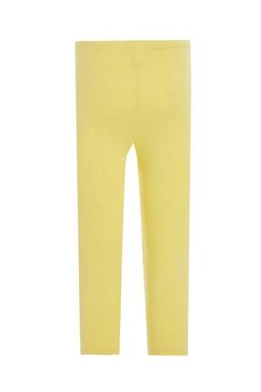 Defacto Kız Çocuk Sarı Slim Fit Kapri Boy Tayt 1