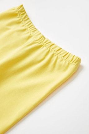 Defacto Kız Çocuk Sarı Slim Fit Kapri Boy Tayt 2