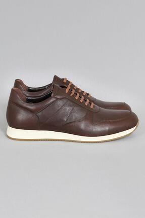 CZ London Erkek Kahverengi Hakiki Deri Sneaker Spor Ayakkabı 2