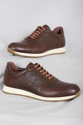 CZ London Erkek Kahverengi Hakiki Deri Sneaker Spor Ayakkabı 4