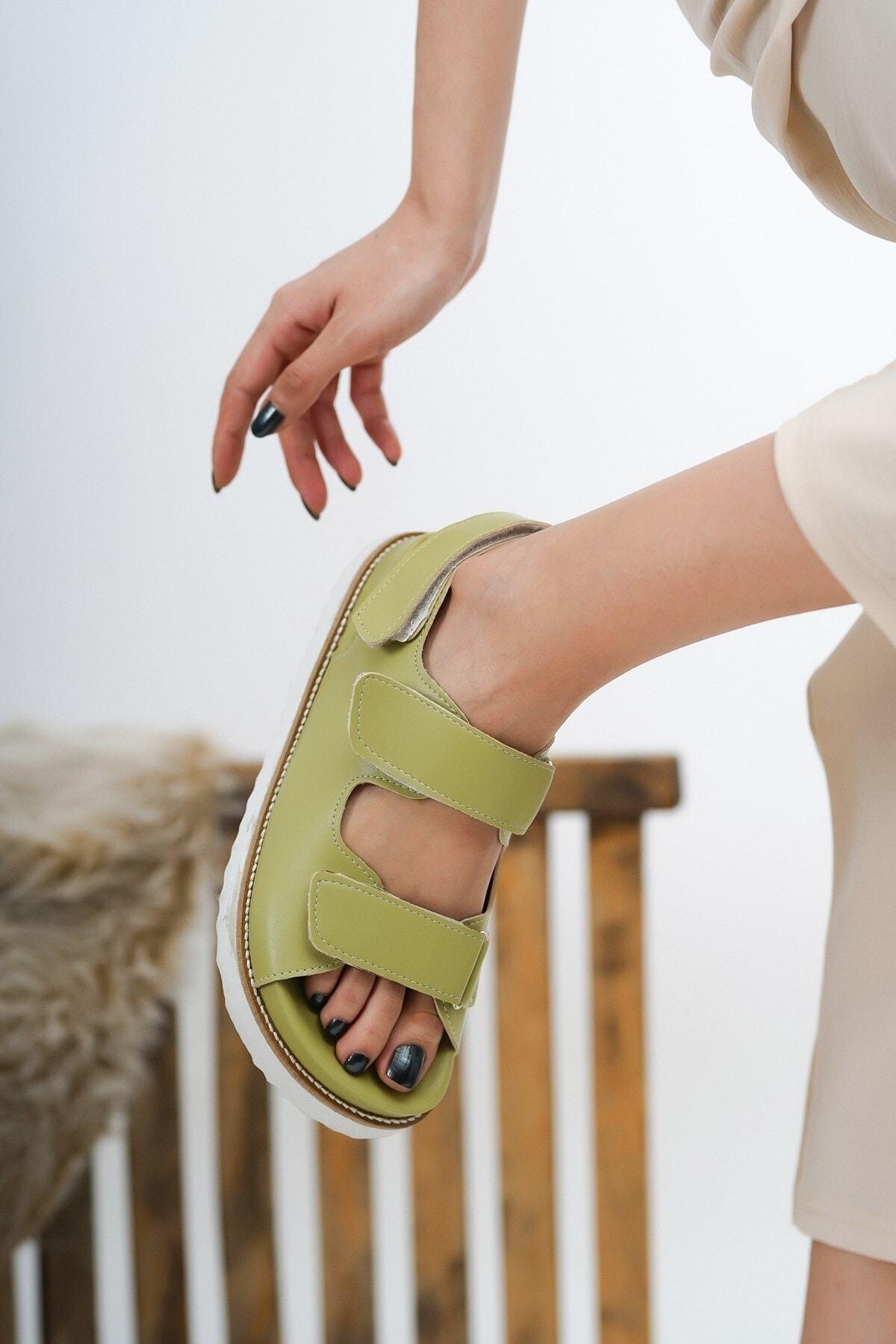 Kadın Megan Yeşil Günlük Kullanım Sandalet