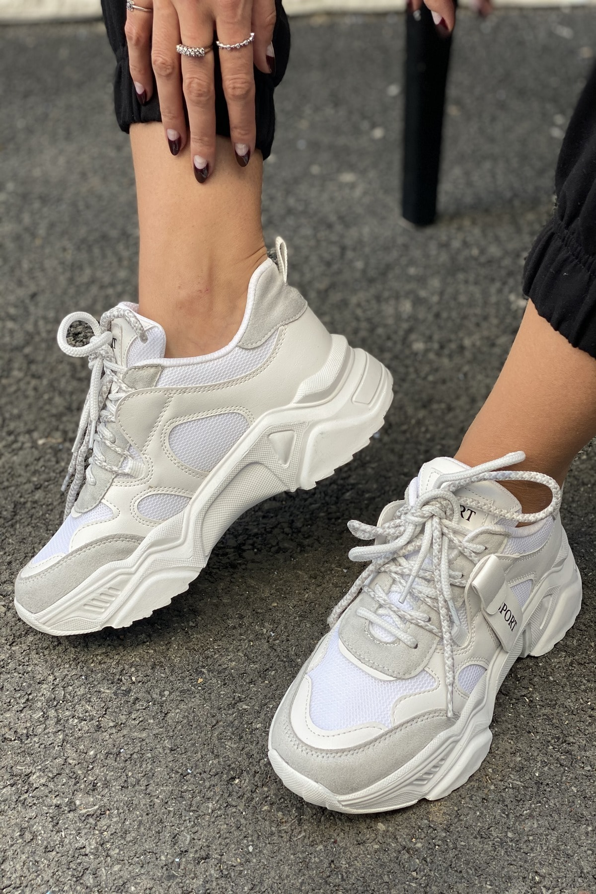 Kadın Gri Sneakers