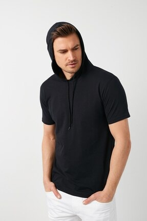 GİYSA Erkek Kapüşonlu Slim Fit Erkek T-shirt 2021 0