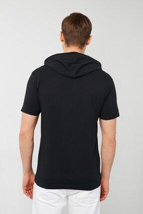 GİYSA Erkek Kapüşonlu Slim Fit Erkek T-shirt 2021 3