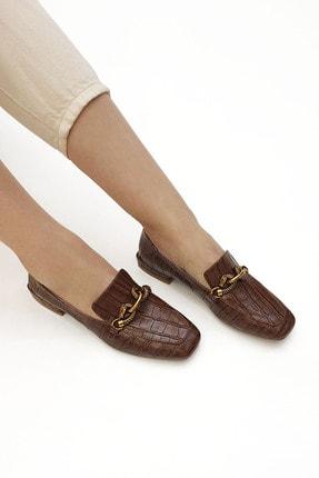 Marjin Kadın Loafer Ayakkabı Alvakahve Croco 1