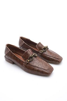 Marjin Kadın Loafer Ayakkabı Alvakahve Croco 2