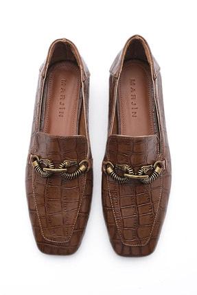 Marjin Kadın Loafer Ayakkabı Alvakahve Croco 4
