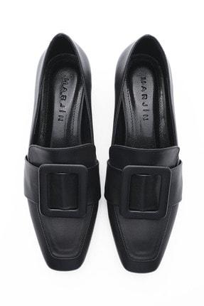 Marjin Kadın Günlük Klasik Topuklu Ayakkabı Jiyonasiyah 4