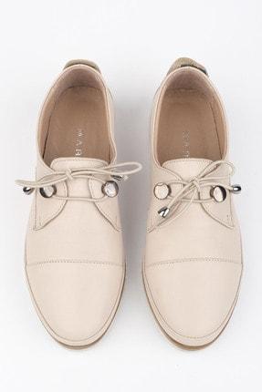 Marjin Kadın Hakiki Deri Comfort Ayakkabı Demasbej 3