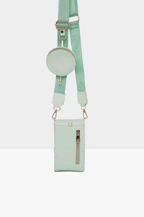 Bagmori Yeşil Kadın Üç Bölmeli Cüzdan Detaylı Mini Çanta M000005867 1