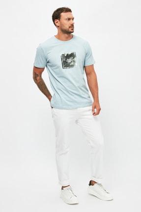 Beyaz Erkek Normal Bel Slim Fit  Jeans TMNSS21JE0178 resmi
