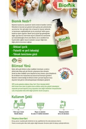 Nanomik Bioflux Home Meyve Sebze Yıkama Temizleme Ürünü-500 ml 1