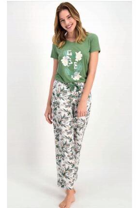 Picture of Kadın Yeşil  Kısa Kollu Pijama Takımı 7701
