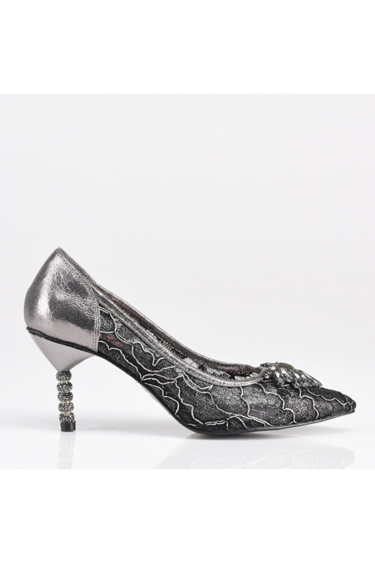 Platin Yaya Kadın Topuklu Ayakkabı