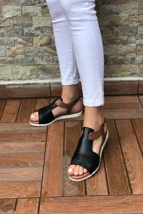 Kadın Hakiki Deri Sandalet HAKİKİ DERİ KADIN SANDALET SİYAH