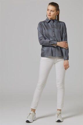 Kadın Gri Ekose Gömlek-gri Tk-u9903-5 resmi